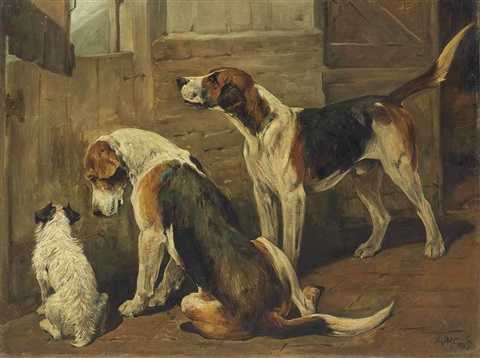 waiting for the hunt a terrier and two hounds by john emms