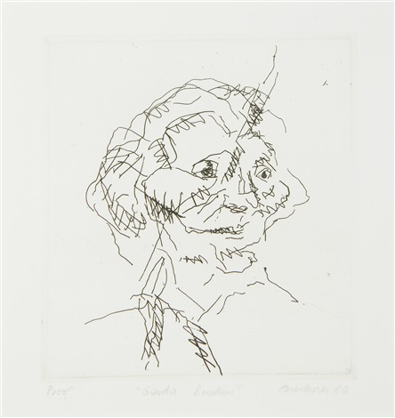gerda boehm from six etchings of heads by frank auerbach