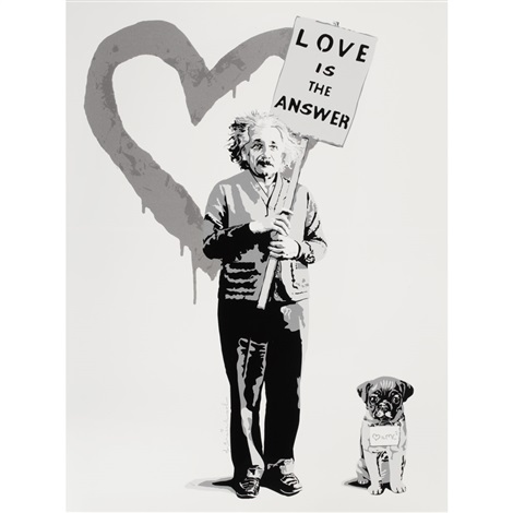 love mc squared silver edition by mr brainwash