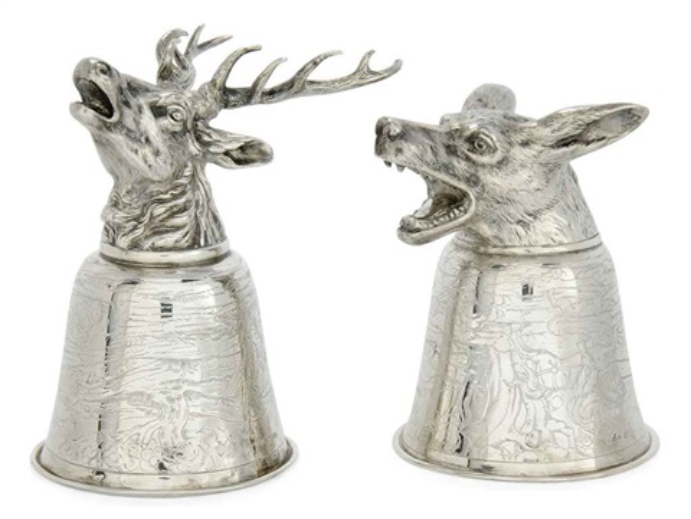 stirrup cups pair by neresheimer