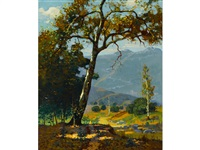 sycamores in mid-july, southern california by ferdinand kaufmann