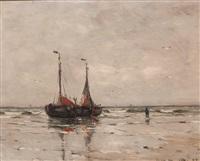 anchored bomschuiten at dawn by gerhard arij ludwig morgenstjerne munthe