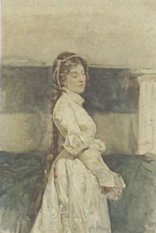 portrait of a young lady by daniele bucciarelli