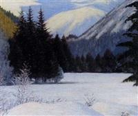 solitude hivernale, paysage de neige by piotr livoff ivanovitch