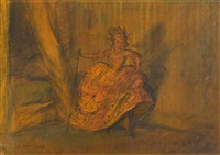 woman in costume by everett shinn