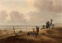 retour de pêche sur la plage de scheveningen by jacob esselens