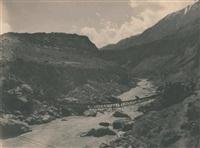 l'expédition de h. r. h. prince louis-amédée de savoie-aoste, duc des abruzzes, pont chango, vallée du karakoram, himalaya de l'ouest by vittorio sella