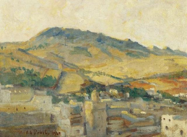 village au pied des montagnes by elie anatole pavil