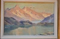 le lac blanc et le chardonnet by charles henry contencin