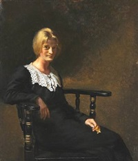frøken ella saxild by helga ancher