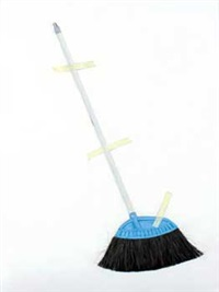 taped broom #2 by tomy mackel tory nelwan