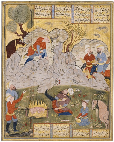 Rustam préparant son repas by Anonymous-Persian-Safavid (16) on artnet