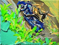 lovers on harley (sun rising) by michael rittstein
