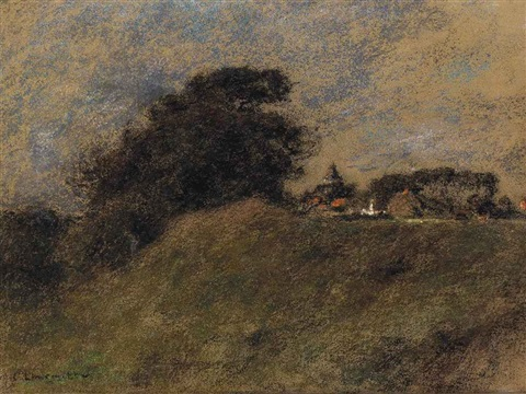 a hamlet in the countryside by léon augustin lhermitte