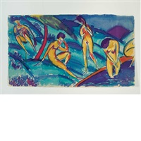 bathers by max zachmann