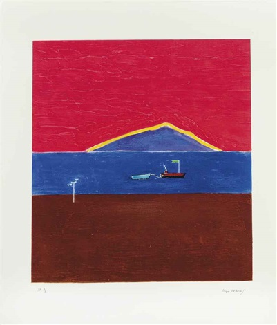 holy island by craigie aitchison