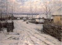 paysage d'ukraine en hiver by ravil ichmametov