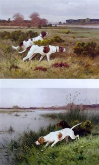 hunting dogs by j. renaud
