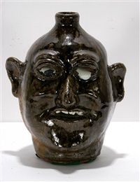 runny eyed face jug by lanier meaders