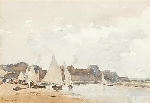an east anglian beach by arthur gerald ackermann