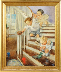 children playing by rose o'neill