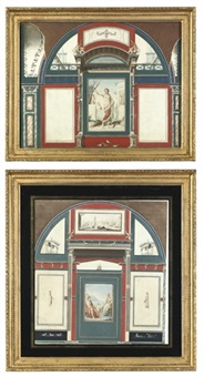 venus and putti bathing pl.iii (+ venus and adonis pl.vi, from manifesto, irgr; 2 works) by angelo campanella
