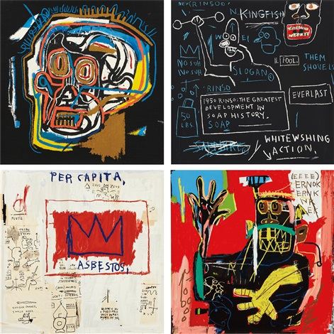 head rinso per capita and ernok 4 works by jean michel basquiat