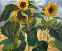 sonnenblumen by otto niemeyer-holstein