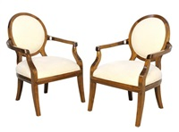oval back lounge chairs (pair) by kreiss furnishings