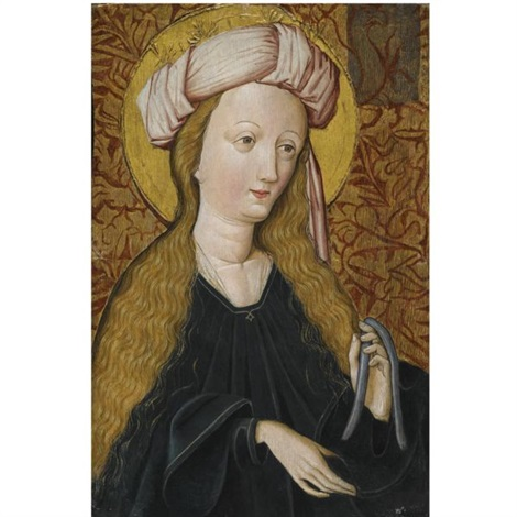 a female saint, half length by german school-southern (15)