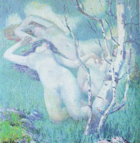 nudes on a hillside by sigurd skou