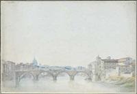 vue de rome avec le tibre et le vatican dans le lointain (ponte rotto ?) by alexis nicolas perignon the elder