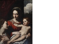 the madonna and child with saint catherine by french school (17)