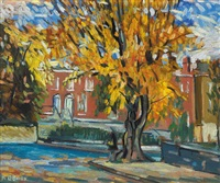 leeson street from appian way, dublin by kitty wilmer o'brien