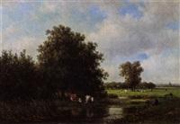 landschap bij oosterhout by willem vester