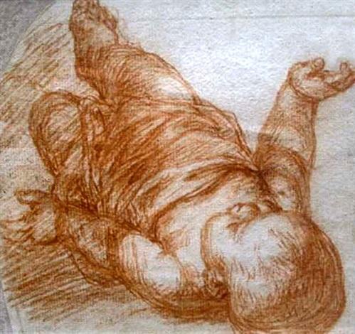 étude de nouveau né allongé by giovanni battista di matteo naldini