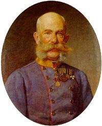 kaiser franz joseph i. vom österreich in feldmarschallsuniform, dekoriert mit dem orden vom goldenen vlies by sigmund l' allemand