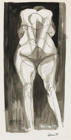 standing figure by rico lebrun