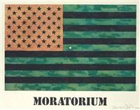 (moratorium) flag poster by jasper johns