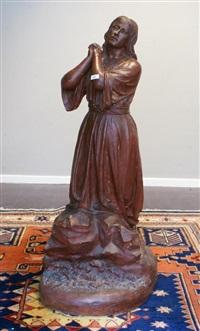 biddende vissersvrouw by alphonse de tombay