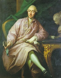 portrait d'homme assis dans un intérieur by guillaume voiriot