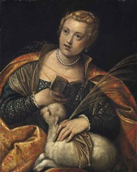saint agnes by paolo veronese