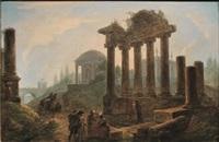 paesaggio con rovine architettoniche e figure by flemish school (18)