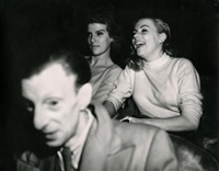 laughing audience by weegee