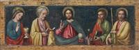 le christ benissant entre saint jean l'evangelist, saint pierre, saint paul, saint jacques by italian school-lombardy (15)