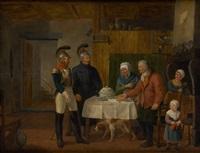 la visite des militaires by constantinus-fidelio coene