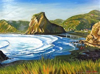 lion rock, piha by ian scott