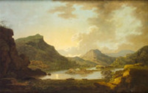 a view of the canal between the lakes of killarney, from near coleman's eye, the entrance of the upper lake by jonathan fisher