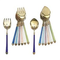 a set of 24 dessert forks and spoons (set of 24) by david anderson