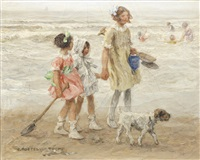 children on the beach by johann jan zoetelief tromp